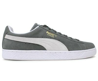New Puma Suede Classic Trainers Sneakers Pumps Casual Shoes - Grey / White
