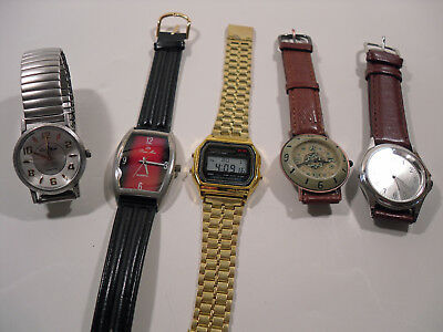 Job Lot of 5 x Used Working Watches (269)