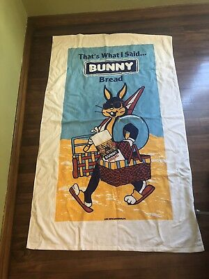 Bunny Bread Advertising Beach Towel