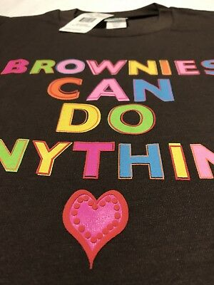 Girl Scouts Small Plus PS Size Brown Brownies Can Do Anything T-Shirt