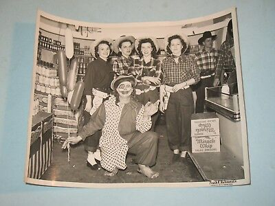 rare 8x10 photo ~ KRAFT MIRACLE WHIP COWGIRLS~ 1950s PROMO KNOXVILLE,TN