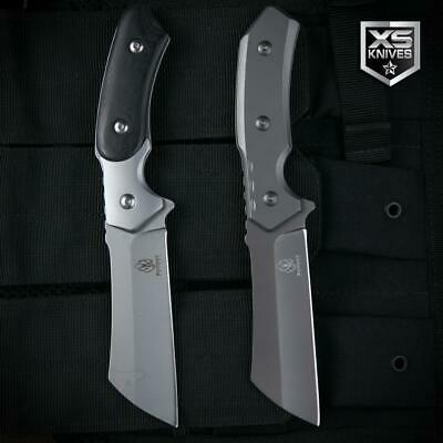 TACTICAL Combat CLEAVER Survival GRAY Hunting Fixed Blade FULL TANG Knife 8.75""
