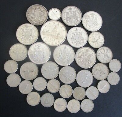 Canadian Mixed Silver Coin Lot $8.70 Face Value ++ Must See This One
