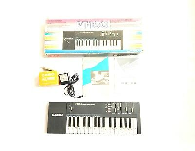 Casio PT-100 Keyboard Electronic Musical Instrument Synthesizer Works W/ Adaptor