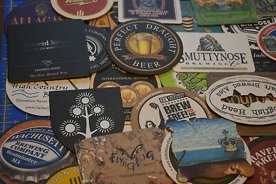 45+ craft beer brewery coaster beer mat lot