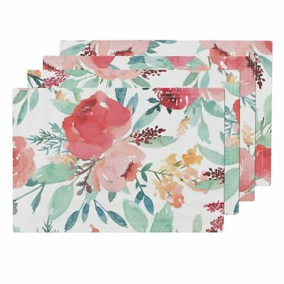 Cloth Placemats Watercolor Flower Floral Pretty Girl Roosteryse2018 Set of 4