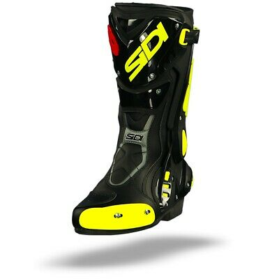 Sidi ST Black Yellow Fluo Sport Motorcycle Boots - Free Shipping
