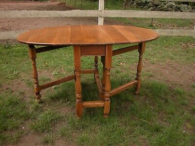 Antique Oak Gate Leg Dining Table Hearth Home Furniture Decorating