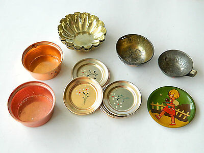 VTG TOY KITCHEN TABLEWARE COOKING ACCESSORIES Various Metals