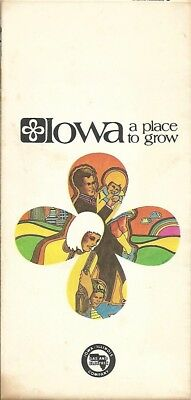 1971 IOWA-ILLINOIS GAS & ELECTRIC COMPANY Utilities Map Brochure Power & Light