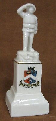 Crested Ware China Margate Surf Boat Crew Monument, Crest of Margate