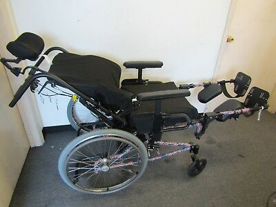 Quickie Ts Manual Wheelchair, With Tilt, Recline And Elevated Footrest.