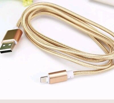 Extra Long Heavy Duty Braided Lightning Charger Cable For iPhone 2meter