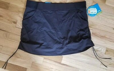 NWT COLUMBIA Anytime Casual BLACK OMNI-SHIELD SKORT SKIRT Omni-Shield 1X $65