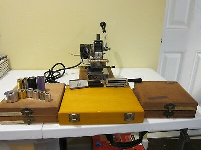 Kingsley Model M-60 Hot Foil Stamping & Embossing Machine With Lots Of Extras