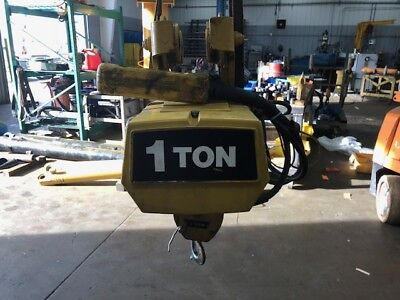 Yale 1 ton cable winch hoist with trolley  208V 3 PH