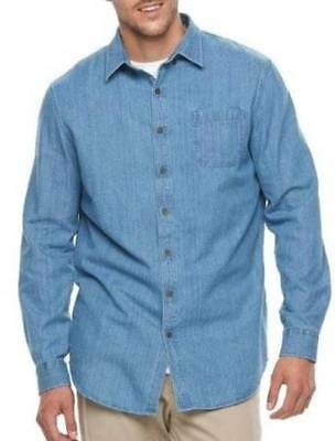 cca00d0af2f MENS CROFT BARROW Big   Tall Blue Lobster Print Button Down Shirt ...