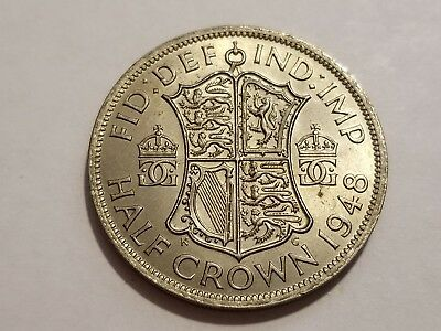 1948 Great Britain (UK) 1/2 Crown King George VI - Uncirculated Beauty