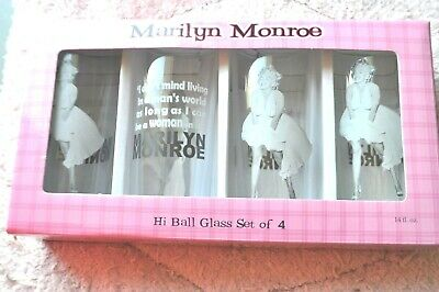 6443b32997696 Marilyn Monroe High Ball Glasses, Bernard of Hollywood-Set of 4 2009 LLC