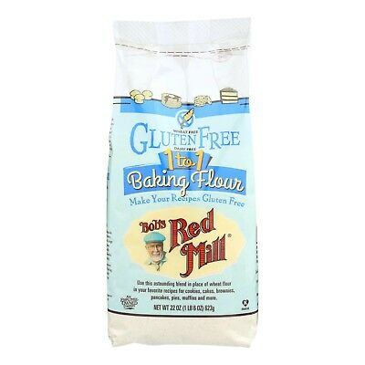 Bob's Red Mill Gluten Free 1-to-1 Baking Flour 22.oz (3 Pack)