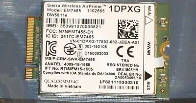 Dell Siera Wireless AirPrime 1DPXG DW5811e EM7455 Mobile 4G LTE Card Module WWAN
