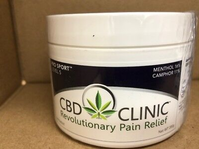 CBD Clinic Level 5 Pro Sport Pain Relief 200g / 7.05 oz Treatment Tubs