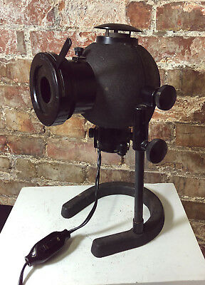 steampunk industrial scientific lamp BAUSCH & LOMB MAGNIFIER PROJECTOR 1920s