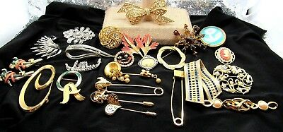 vintage brooch pin lot of 25 sarah coventry camco roman kjl and more