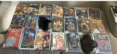 LOT of 19 SIGNED GEORGES JEANTY BUFFY THE VAMPIRE SLAYER COMICS SEASON 8 9 ANGEL