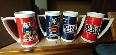 Set of Four Spuds MacKenzie Mugs