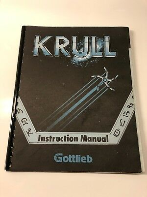 Krull Arcade Game Original Manual, Gottlieb, Very Nice Condition!