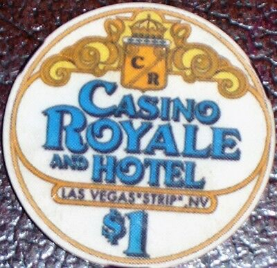 Old $1 CASINO ROYALE Hotel Poker Chip Vintage Antique Chipco Mold Las Vegas NV