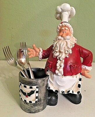 Resin Christmas Santa Claus Holder Center Piece -NEW