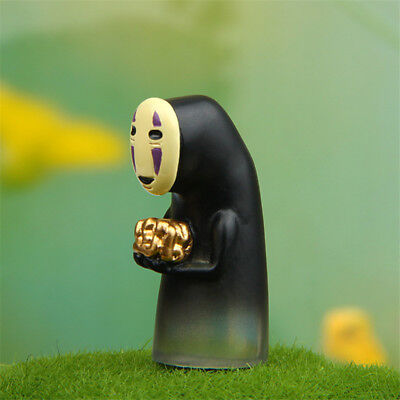 Studio Ghibli Spirited Away No-Face Man Holding Gold Figure Toy Home Decor
