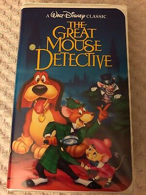 The Adventures of the Great Mouse Detective (VHS, 1992) Walt Disney Classic