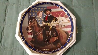 Bradford Exchange Civil War Generals George Armstrong Custer Collector's Plate