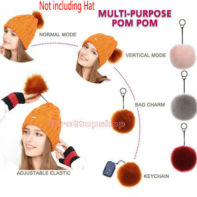 New Fashion Charm Fur Pompom Ball Handbag Car Pendant Key Chain Keyrings Style 8
