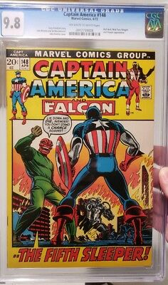 Captain America #148 CGC 9.8 1972 John Romita MINT Marvel Comic Red Skull N Fury