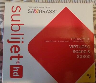 Sawgrass Sublijet Ink Sublimation Ink Cartridge Yellow 29ml Ex Date Oct 31, 2019