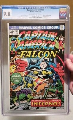 Captain America #182 CGC 9.8 1975 MINT Marvel Comic Serpent Squad! Viper & Cobra