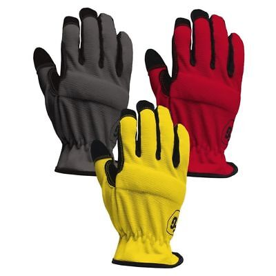 3-Pack Firm Grip Large High Dex Gloves Safety Construction Work Protective