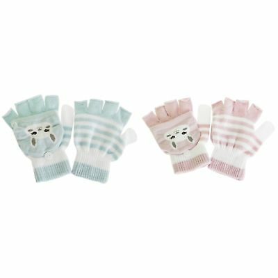 Childrens/Kids Cat Striped Gloves/Mittens With Glitter (1 Pair) (GL597)
