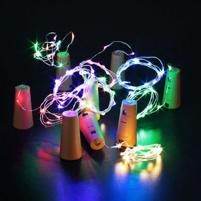 12X 20LED Copper Wire Cork Wine Bottle Starry Fairy Light for Wedding Xmas Party