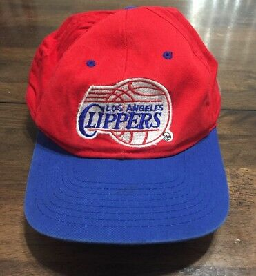 cheaper f5aff f3ca8 NBA Los Angeles Clippers Vintage Snapback Hat Cap Red Blue