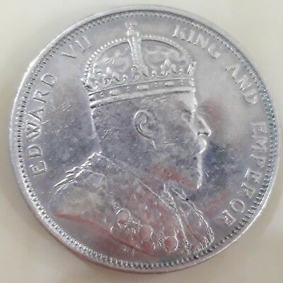 1904-B Straits Settlements $1 ( King Edward VII ) - NICE COIN (1)