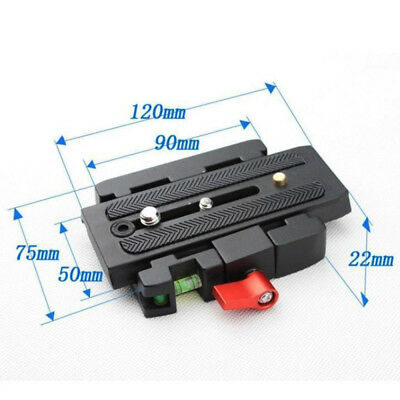 P200 Quick Release Clamp Slide Plate Adapter System for Camera Tripod Ball Head