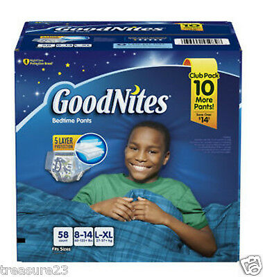 GoodNites Bedtime Underwear for Boys  L/XL 58 Count