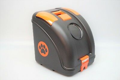 Topcase Tiertransportbox PET ON WHEELS Box Transportbox Tierbox schwarz orange