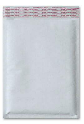 """White Kraft Bubble Mailers 7.25"""" x 12"""" (#1) Shipping Mailing Bags 100 Pieces"""
