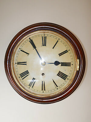 Original 10 inch Dial Wall Clock Antique W & H English NON Fusee Victorian